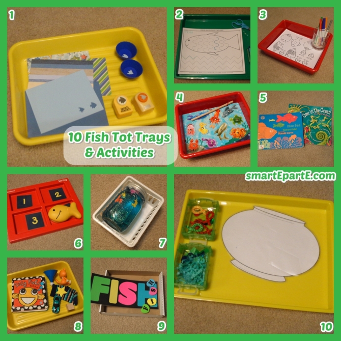 10 fish themed tot trays and activities for toddlers!